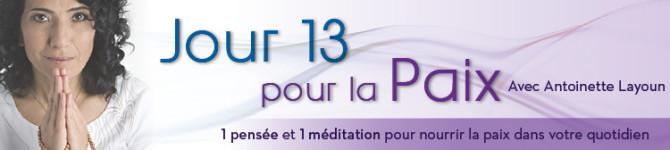 Jour 13 – 21 jours pour la Paix