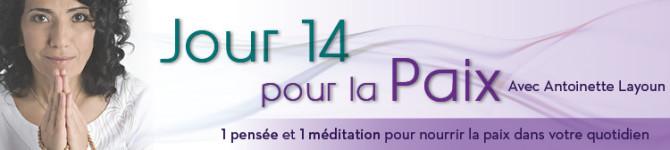 Jour 14 – 21 jours pour la Paix