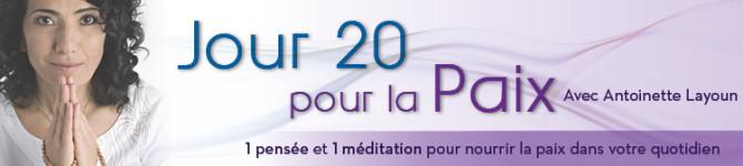 Jour 20 – 21 jours pour la Paix