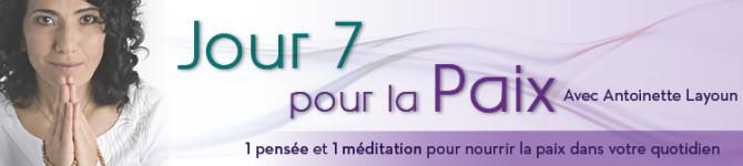 Jour 7 – 21 jours pour la Paix