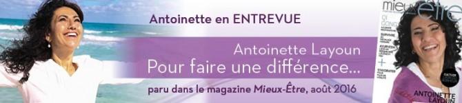 Antoinette Layoun – Pour faire une différence…