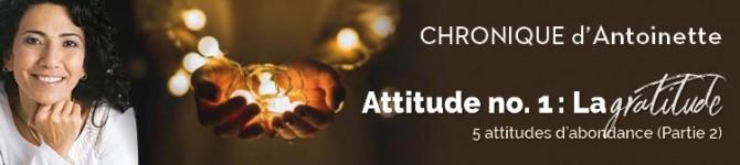 La gratitude 5 attitudes d'abondance (partie 2)