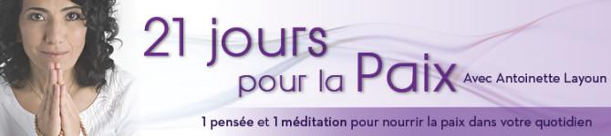 JOUR 1- 21 jours pour la Paix