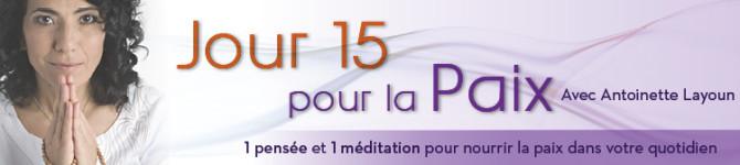 Jour 15 – 21 jours pour la Paix
