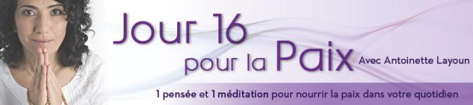 Jour 16 – 21 jours pour la paix