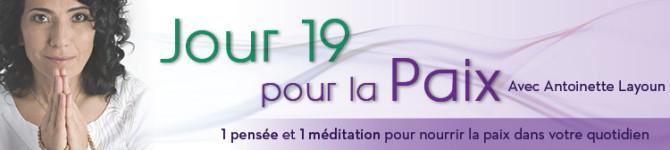 Jour 19 – 21 jours pour la Paix