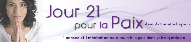 Jour 21 – 21 jours pour la Paix