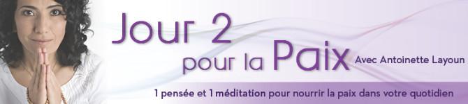 JOUR 2 – 21 jours pour la Paix