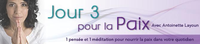 Jour 3 – 21 jours pour la paix