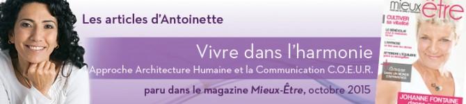 Vivre dans l'harmonie  – Approche Architecture Humaine et la communication C.O.E.U.R.