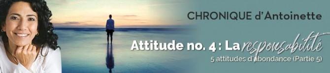 La responsabilité – Cinq attitudes d'abondance (partie 5)